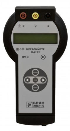 Цифровой мегаомметр (измеритель сопротивления заземления) M4122
