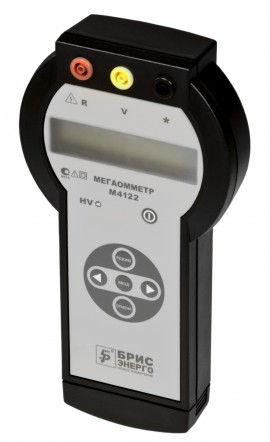 Цифровой мегаомметр (измеритель сопротивления заземления) M4122А