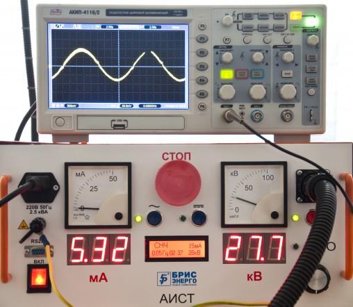 Высоковольтная установка для испытания кабелей из сшитого полиэтилена (СПЭ) АИСТ СНЧ 36