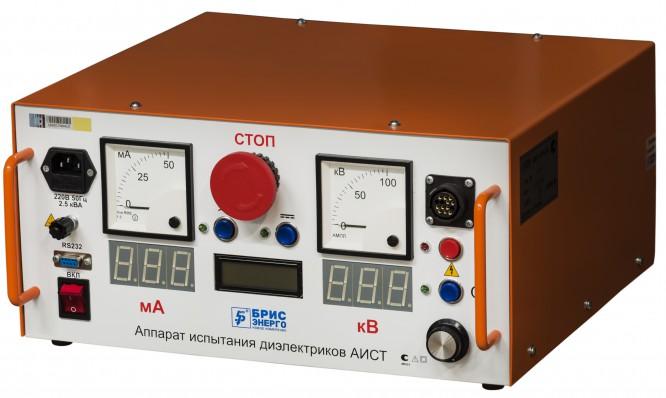 Комбинированная испытательная установка АИСТ СНЧ 30/36 и АИСТ 50М с общим пультом управления