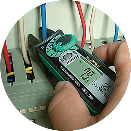 Открытые (вилкообразные) цифровые токоизмерительные клещи KEW 2300R (AC/DC / 10мм) True RMS