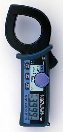 Цифровые токоизмерительные клещи для измерения тока утечки на переменном напряжении KEW 2432 (40мм)