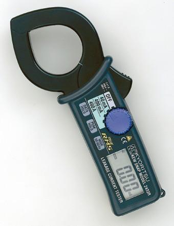 Цифровые токоизмерительные клещи для измерения тока утечки на переменном напряжении KEW 2433 (40мм)