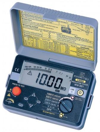 Цифровой мегаомметр (измеритель сопротивления изоляции) KEW 3021