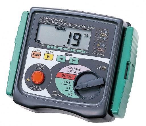 Цифровой измеритель параметров устройств защитного отключения (УЗО) Kyoritsu KEW Model 5406A