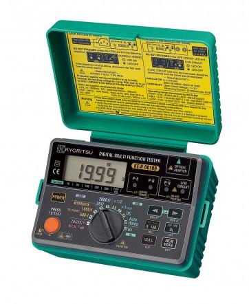 """Kyoritsu KEW Model 6011А - Многофункциональный измеритель. 5 функций в одном приборе: измерение целостности (сопротивления) цепи, сопротивления изоляции, сопротивления петли """"Фаза-Ноль"""", параметров УЗО, ожидаемого тока короткого замыкания"""