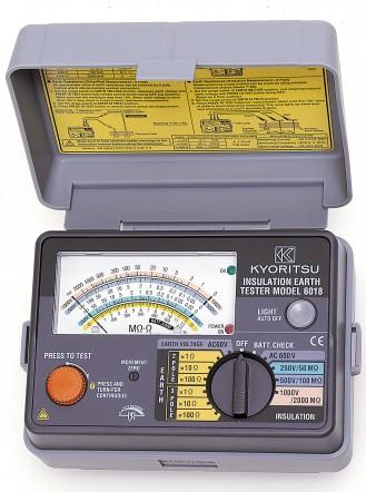 Kyoritsu KEW Model 6016 - Многофункциональный измеритель. 10 функций в одном приборе: целостность цепи, мегаомметр, петля Ф-0, ток повреждения, ток КЗ, проверка УЗО, сопротивление заземления, переменное напряжение, чередование фаз, частота