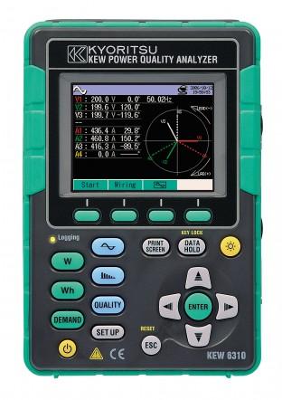 Kyoritsu KEW Model 6310-01 - Измеритель качества электроэнергии