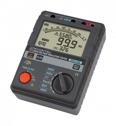 Цифровой высоковольтный мегаомметр (измеритель сопротивления изоляции) KEW 3126
