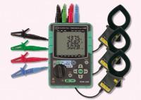 KEW 6300-01 - Компактный измеритель мощности в комплекте с клещевыми адаптерами (Ø40, 500А - 3шт)