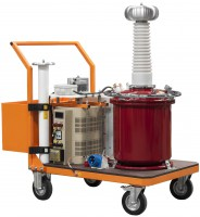 Аппарат испытания диэлектриков АИСТ 100М(G) с элегазовым (SF6) трансформатором (100 мА)