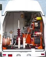 Реализованный проект: Передвижная электротехническая лаборатория ППУ-5 «СУРА» для испытания кабелей и оборудования подстанций