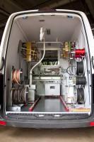 Передвижная электротехническая лаборатория ЭТЛ ППУ-1 на базе а/м Volkswagen Crafter для нужд предприятия ОАО «Петролеспорт», г. Санкт-Петербург.